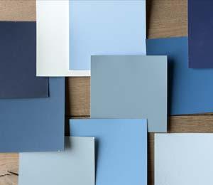 blauwe kleur verven