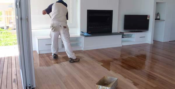 houten vloer schilderen